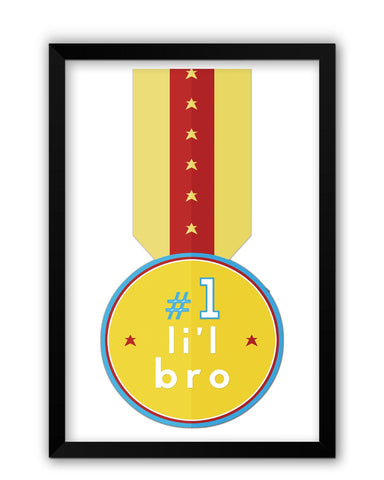 Framed Posters | No. 1 Little Bro Laminated Framed Poster Online India