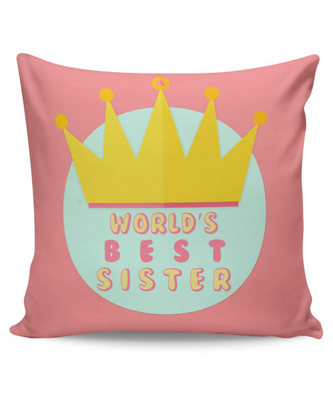 PosterGuy | World's Best Sister Cushion Cover Online India