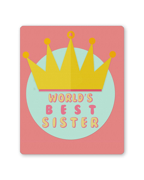 Buy Mousepads Online India | World's Best Sister Mouse Pad Online India