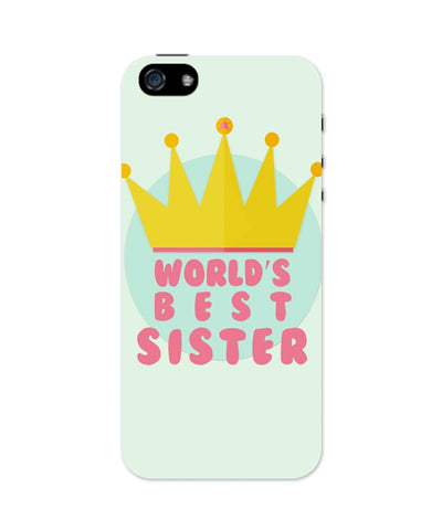 iPhone 5 / 5S Cases & Covers | World's Best Sister iPhone 5 / 5S Case Online India