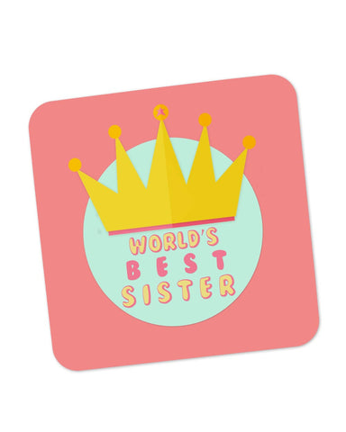 Buy Coasters Online | World's Best Sister Coaster Online India | PosterGuy.in