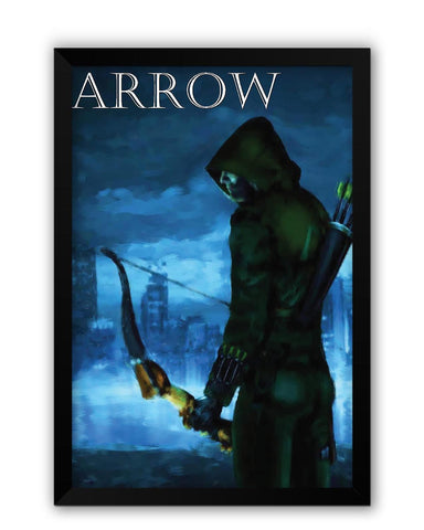 Framed Posters | The Green Hood Arrow Laminated Framed Poster Online India