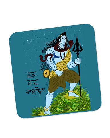 Buy Coasters Online | Har Har Mahadev Lord Shiva Coaster Online India | PosterGuy.in