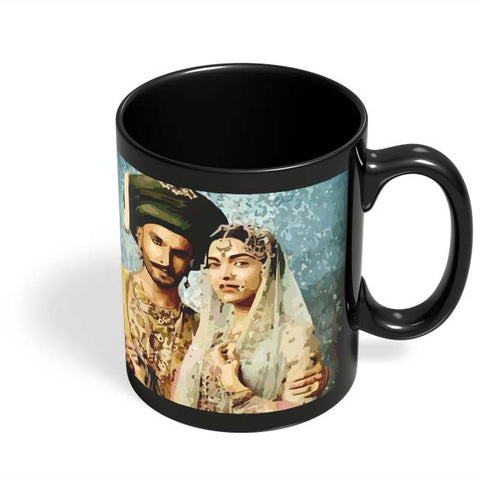Coffee Mugs Online | Bajirao Mastani Black Coffee Mug Online India