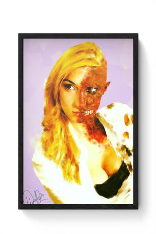 Framed Posters Online India | Female Two Face Laminated Framed Poster Online India