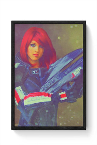 Framed Posters Online India | Female Shepard Laminated Framed Poster Online India