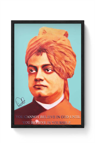 Framed Posters Online India | Swami Vivekananda Laminated Framed Poster Online India