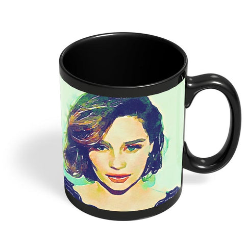 Emilia Clarke Black Coffee Mug Online India