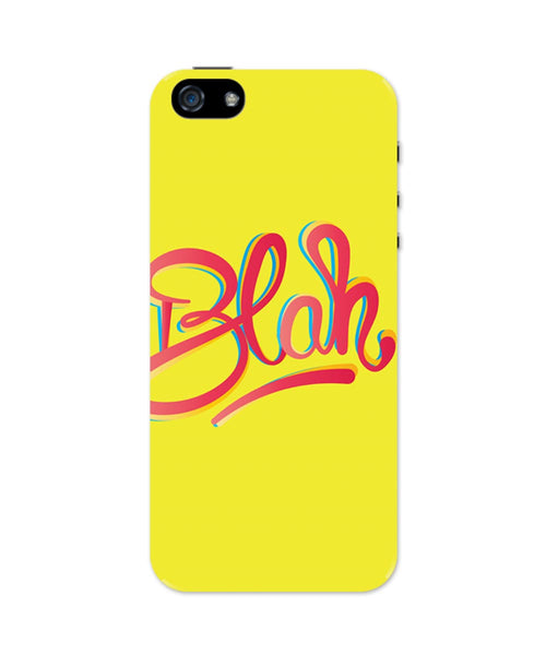 iPhone 5 / 5S Cases & Covers | Blah Quirky Typography iPhone 5 / 5S Case Online India