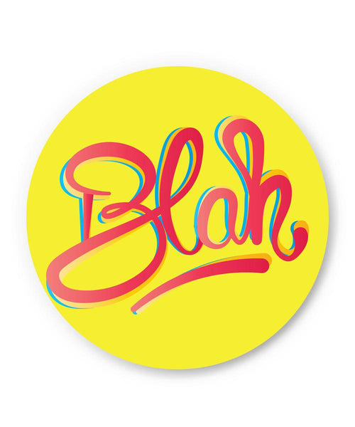 PosterGuy | Blah Quirky Typography Fridge Magnet Online India by IDigType