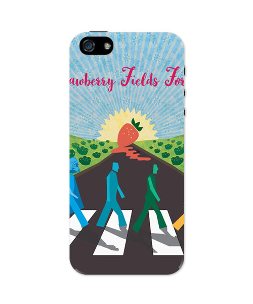 iPhone 5 / 5S Cases & Covers | Strawberry Fields Forever | Beatles Inspired Fan Art iPhone 5 / 5S Case Online India
