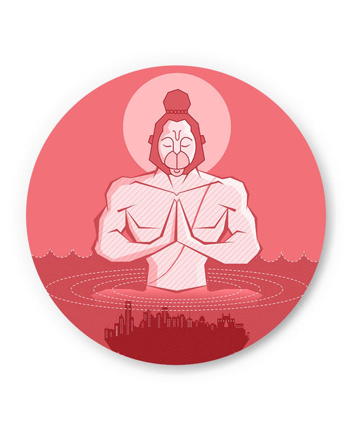 PosterGuy | Lord Hanuman Watching Over World Art Fridge Magnet Online India by IDigType