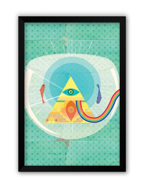Framed Posters | The Dark Side of The Moon | Fish Eye Laminated Framed Poster Online India