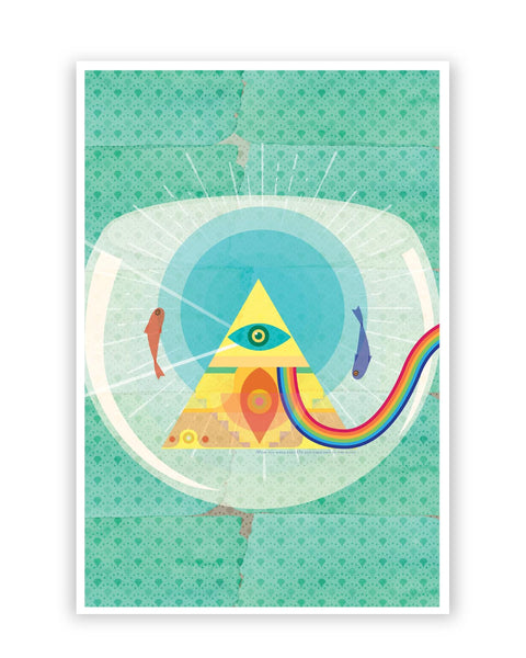 Posters Online | The Dark Side of The Moon | Fish Eye Poster Online India | Designed by: IDigType