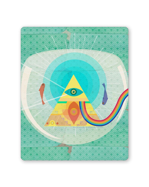 Buy Mousepads Online India | The Dark Side of The Moon | Fish Eye Mouse Pad Online India