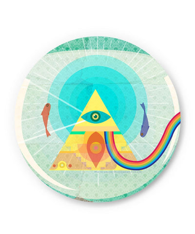 PosterGuy | The Dark Side of The Moon | Fish Eye Fridge Magnet Online India by IDigType