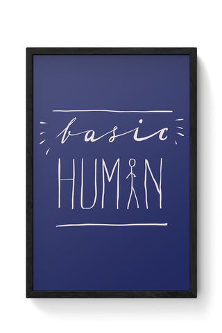 Basic Human Framed Poster Online India