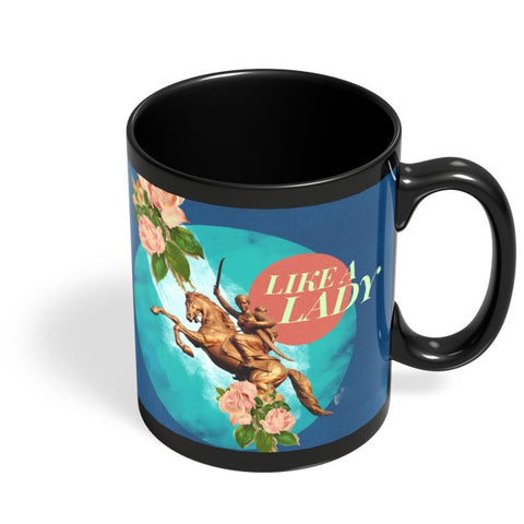 Like a Lady Black Coffee Mug Online India