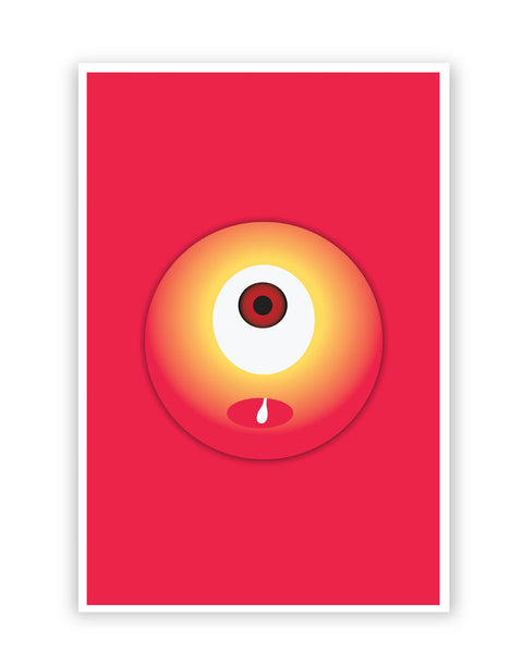 Posters Online | Cute Eye Art Illustration Poster Online India | Designed by: Ravi Pal