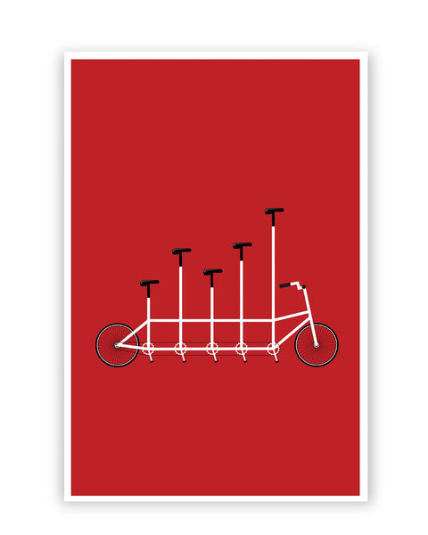 Posters Online | Cycle Graph Art Illustration Poster Online India | Designed by: Ravi Pal