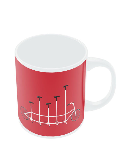 Coffee Mugs Online | Cycle Graph Art Illustration Mug Online India