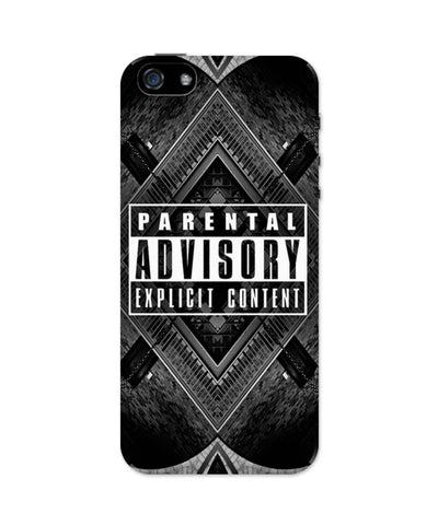 iPhone 5 / 5S Cases & Covers | Parental Advisory Explicit Content iPhone 5 / 5S Case Online India