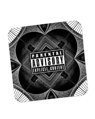 Buy Coasters Online | Parental Advisory Explicit Content Coaster Online India | PosterGuy.in
