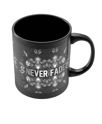 Coffee Mugs Online | Never Fade | Motivational Illustration Black Coffee Mug Online India