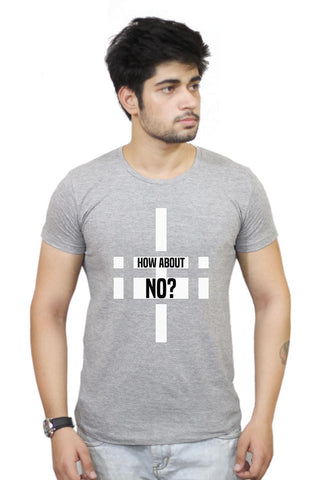 Buy How About No | Funny Motivational  T-Shirts Online India | How About No | Funny Motivational  T-Shirt | PosterGuy.in
