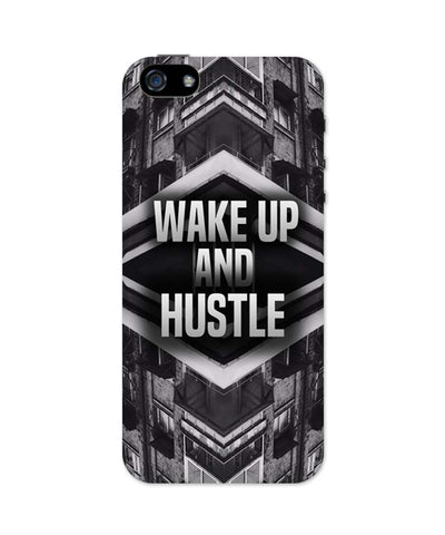 iPhone 5 / 5S Cases & Covers | Wake Up And Hustle Motivational iPhone 5 / 5S Case Online India