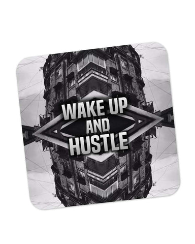 Buy Coasters Online | Wake Up And Hustle Motivational Coaster Online India | PosterGuy.in