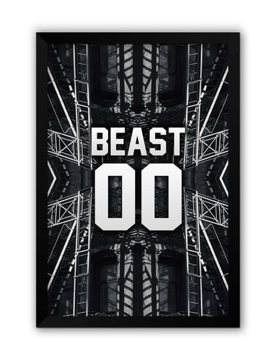 Framed Posters | Beast 00 | Mode Active Laminated Framed Poster Online India