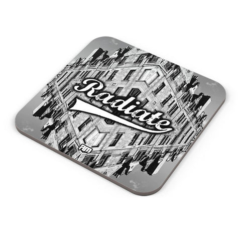 Buy Coasters Online | Radiate Graphic Illustration Coaster Online India | PosterGuy.in