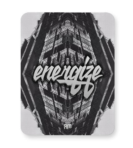 Buy Mousepads Online India | Energize Motivational Illustration Mouse Pad Online India
