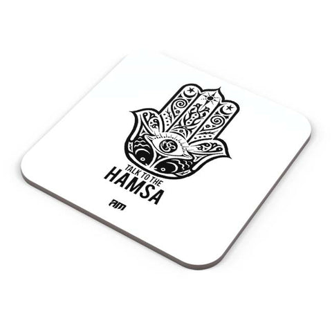 Buy Coasters Online | Talk To The Hamsa Coaster Online India | PosterGuy.in