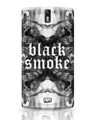 OnePlus One Covers | Black Smoke OnePlus One Case Cover Online India