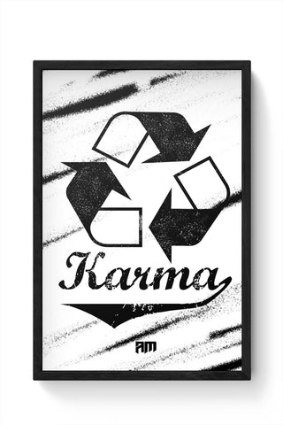 Framed Posters Online India | Karma (Past,Present, Future) Framed Poster Online India