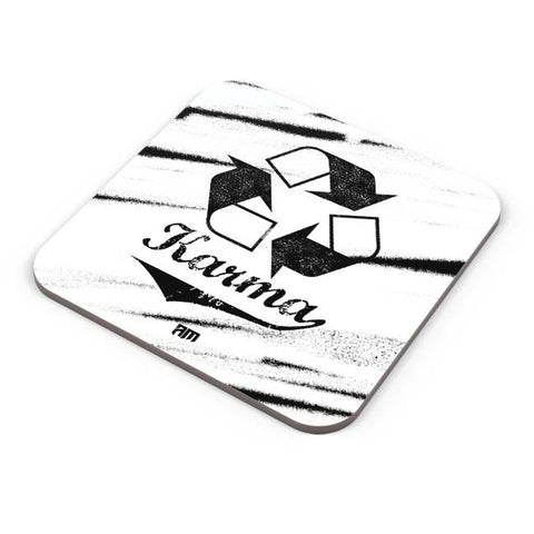 Buy Coasters Online | Karma (Past,Present, Future) Coaster Online India | PosterGuy.in