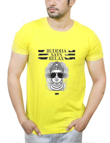 Buy Buddha Says Relax T-Shirts Online India | Buddha Says Relax T-Shirt | PosterGuy.in