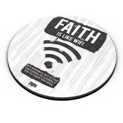 PosterGuy | Faith Is Like Wi-Fi Fridge Magnet Online India by Aditya Mehrotra (AM)