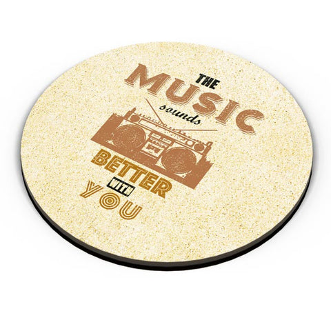 PosterGuy | The Music Sounds Better With You Fridge Magnet Online India by Aditya Mehrotra (AM)