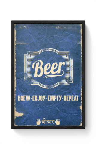 Framed Posters Online India | BEER Framed Poster Online India