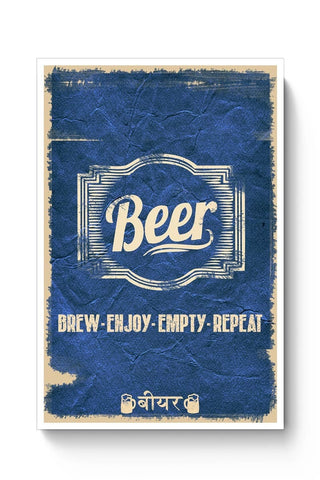 Posters Online | Beer Poster Online India | Designed by: Aditya Mehrotra AM