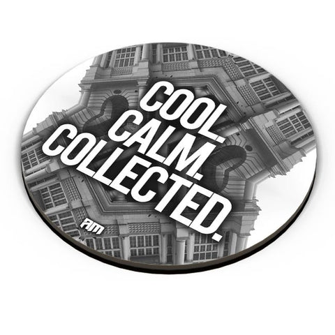 PosterGuy | COOL. CALM. COLLECTED. Fridge Magnet Online India by Aditya Mehrotra AM
