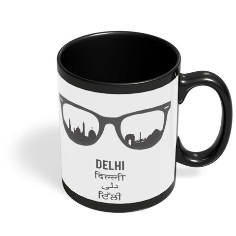 Delhi Through The Lenses Black Coffee Mug Online India
