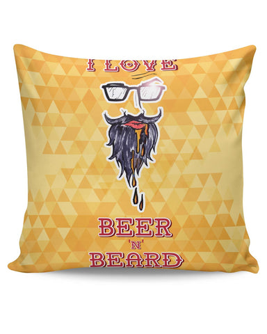 PosterGuy | I Love Beer and Beard Cushion Cover Online India