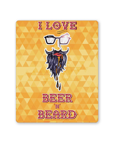 Buy Mousepads Online India | I Love Beer and Beard Mouse Pad Online India