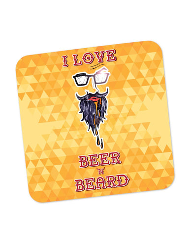 Buy Coasters Online | I Love Beer and Beard Coaster Online India | PosterGuy.in