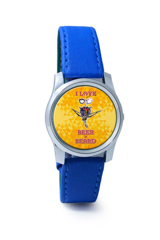 Women Wrist Watch India | I Love Beer and Beard Wrist Watch Online India