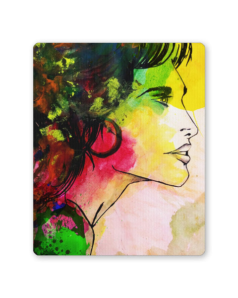 Buy Mousepads Online India | The Lady Abstract Art Sketch Mouse Pad Online India